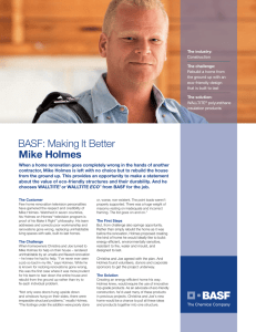 BASF: Making It Better Mike Holmes - Make it Right