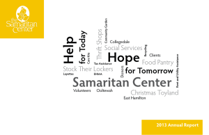Help Samaritan Center Hope