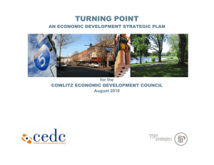Cowlitz EDC Tip Strategy - Cowlitz Economic Development Council