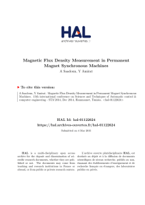 Magnetic Flux Density Measurement in Permanent Magnet