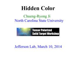 Hidden Color - Jefferson Lab