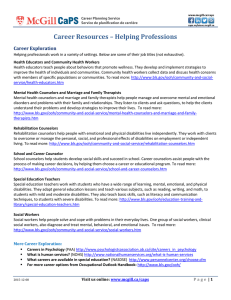 Career Resources – Helping Professions