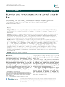 Nutrition and lung cancer: a case control study in Iran
