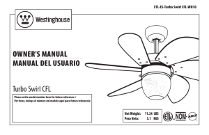 OWnEr`S ManuaL ManuaL dEL uSuariO Turbo Swirl CFL