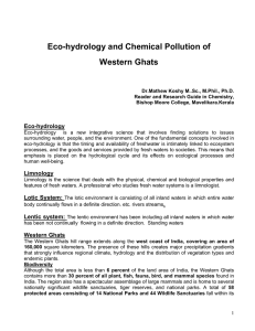 Eco-hydrology and Chemical Pollution of Western Ghats