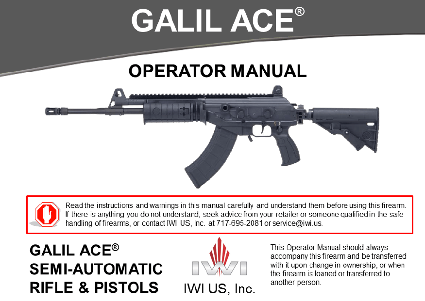 GALIL ACE® Manual