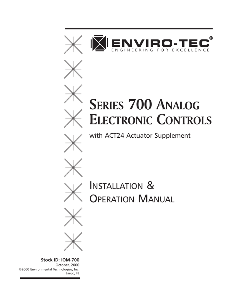 Series 700 Analog Electronic Controls Enviro Tec Wiring Diagram For Signal Stat