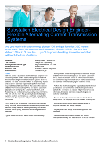 Substation Electrical Design Engineer