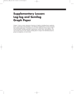 Supplementary Lesson: Log-log and Semilog Graph Paper