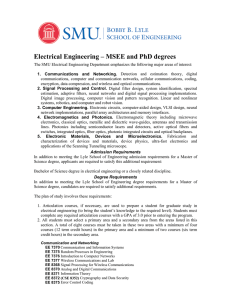 Electrical Engineering – MSEE and PhD degrees