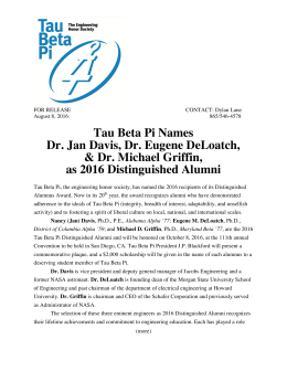 2016 TBP Distinguished Alumni