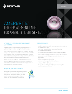 AMERBRITETM LED REPLACEMENT LAMP foR