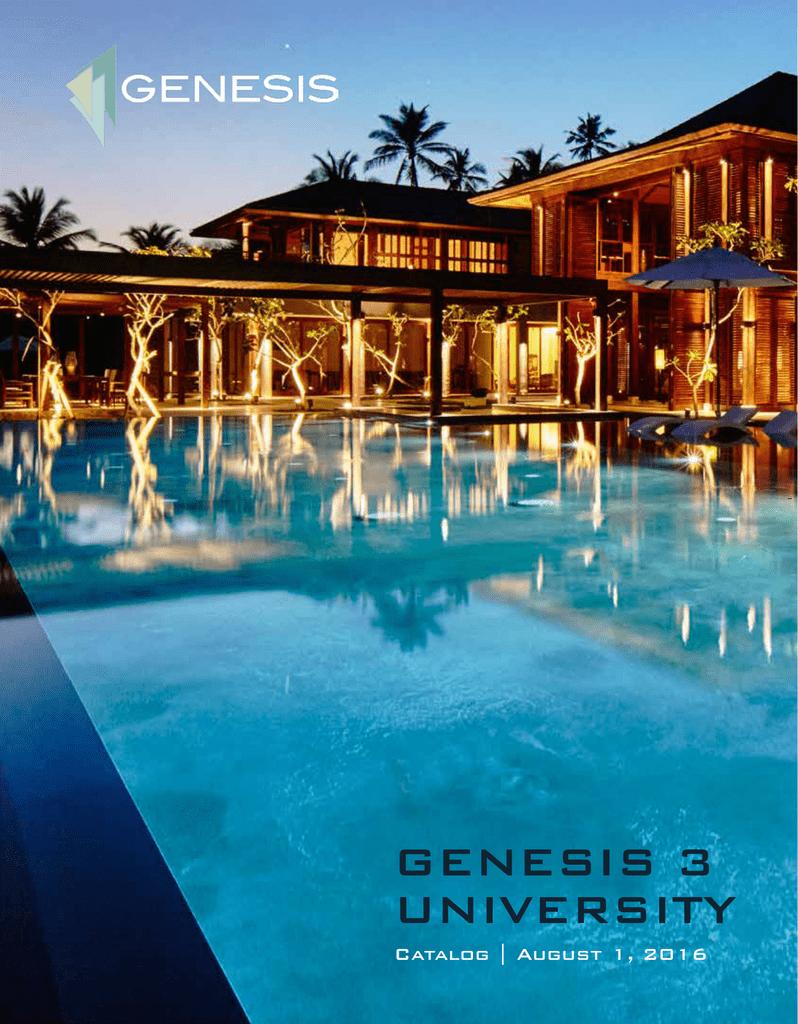 Genesis 3 University Catalog