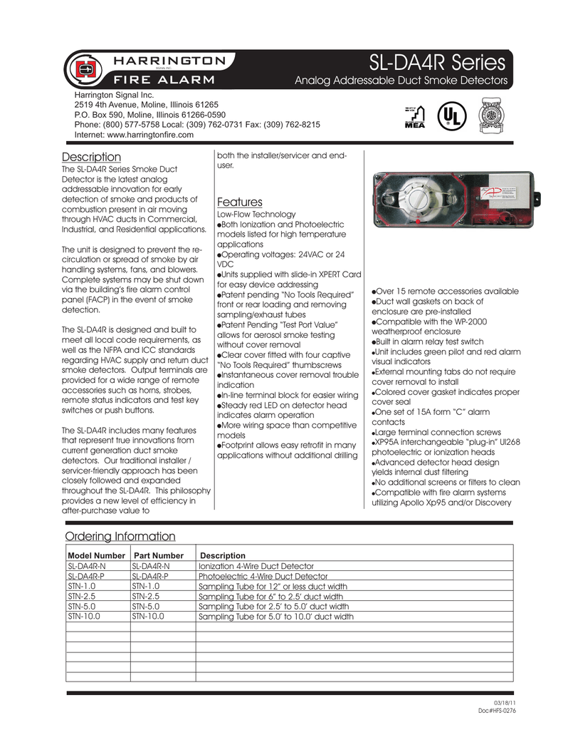 Sl Da4r Series Harrington Fire Americium Smoke Detector Circuit Board