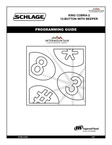 PROGRAMMING GUIDE