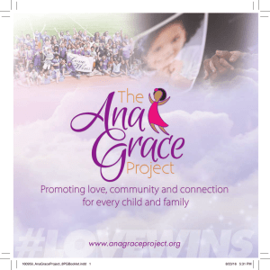 Our Brochure - The Ana Grace Project