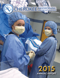 annual report - Cherokee Regional Medical Center