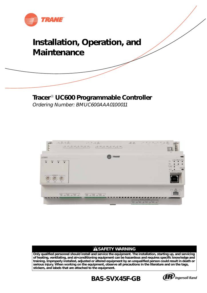 installation operation maintenance  uc400 trane wiring diagram #14