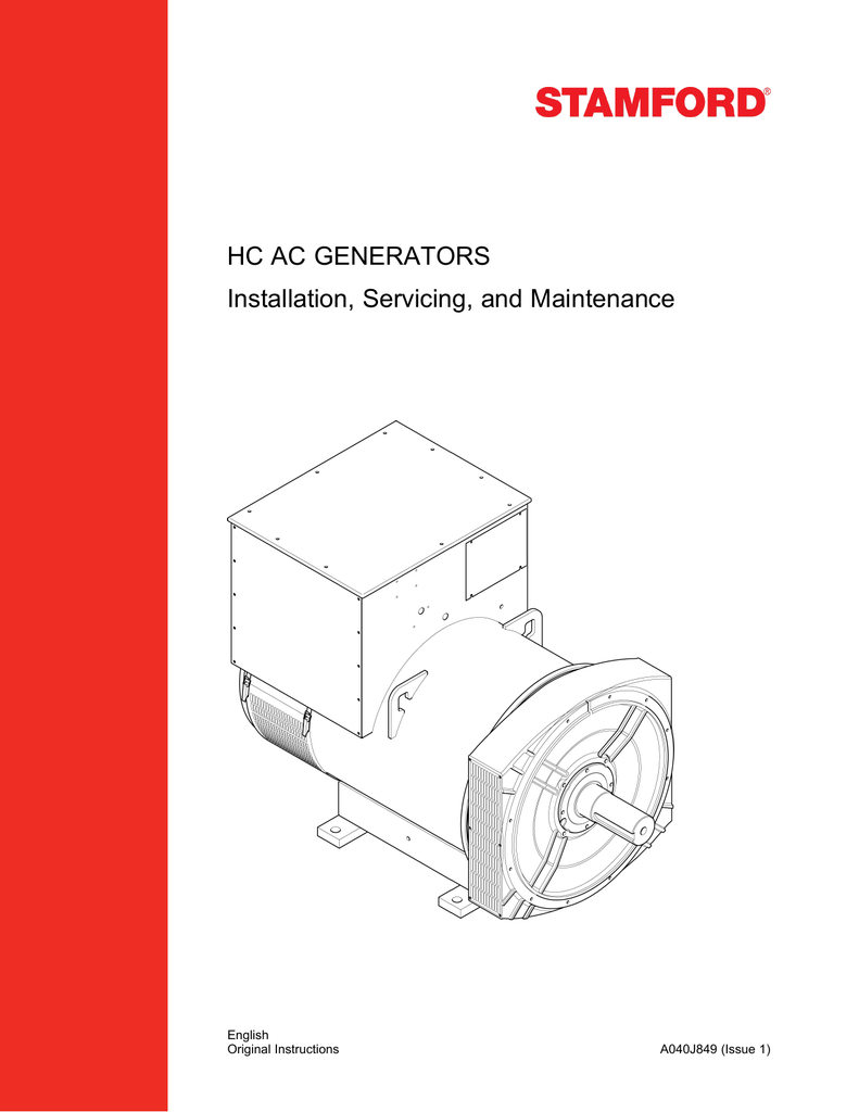 Hc Ac Generators Installation Servicing And Maintenance Avr As440 Wiring Diagram