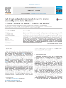 High strength and good electrical conductivity in Cu–Cr alloys