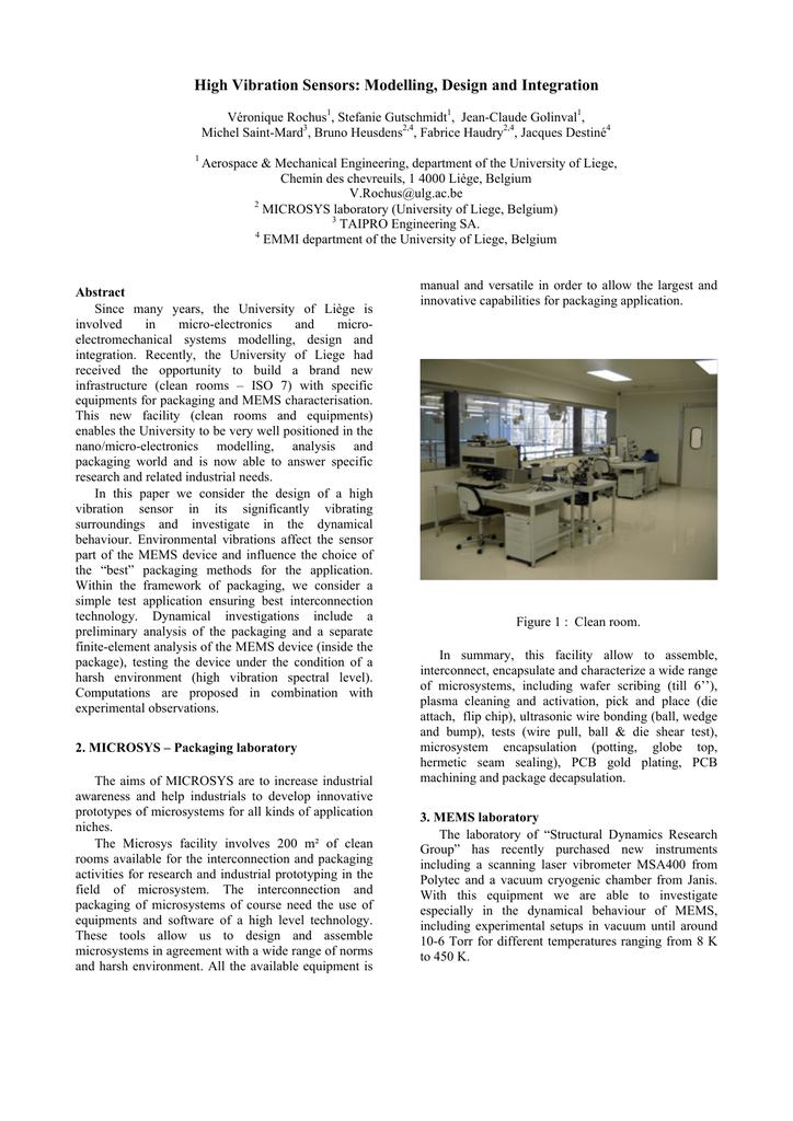 High Vibration Sensors: Modelling, Design and Integration