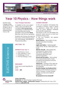 Year 10 Physics - Northern Bay College