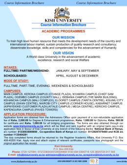 Kisii University Brochure 2015