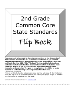 2nd Grade Common Core State Standards