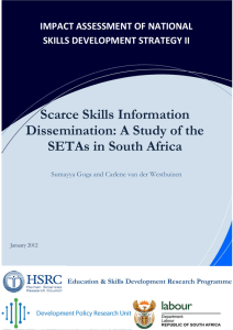 Scarce Skills Information Dissemination and Training Choices: A