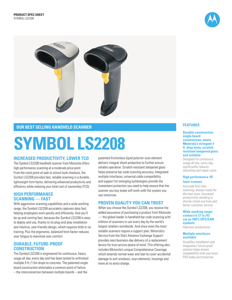 The symbol ls2208 handheld scanner biocorpaavc Images