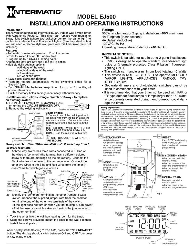 Intermatic Low Voltage Wiring Diagram