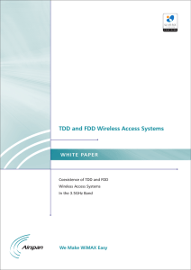 TDD and FDD Wireless Access Systems