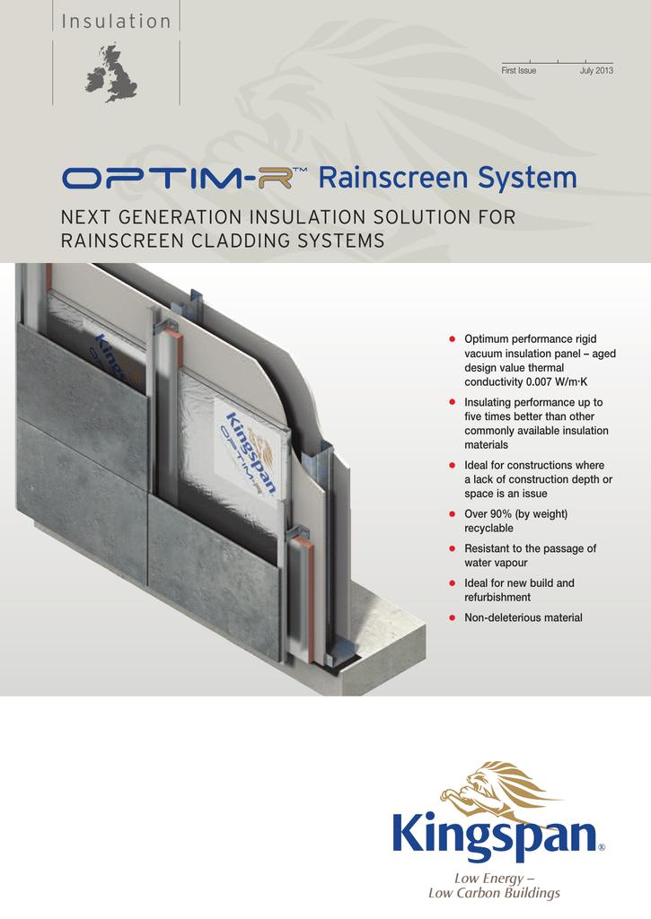 Rainscreen System - Kingspan Insulation