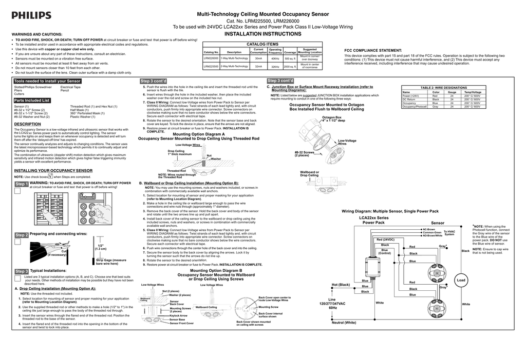 occupancy sensor power pack wiring diagram   42 wiring