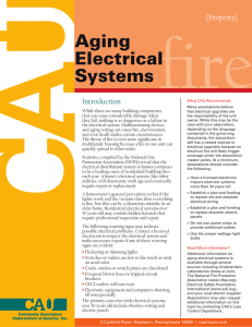 Aging Electrical Systems fire - Community Association Underwriters