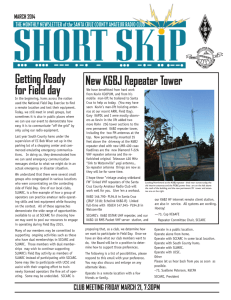 New K6BJ Repeater Tower Getting Ready for Field day