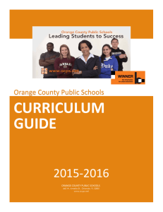 curriculum guide - Orange County Public Schools