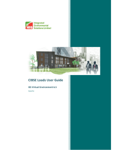 CIBSE Loads User Guide