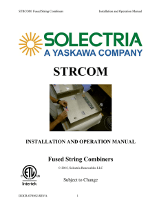 STRCOM Installation and Operations Manual