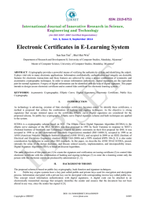 Electronic Certificates in E-Learning System
