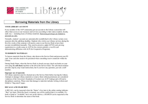 Borrowing Materials from the Library
