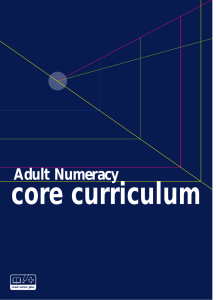Adult Numeracy
