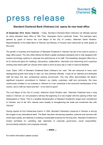 Standard Chartered Bank (Vietnam) Ltd. opens its new head office