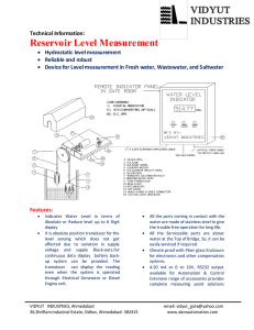 Reservoir Level Measurement