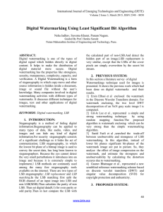 Digital Watermarking Using Least Significant Bit Algorithm