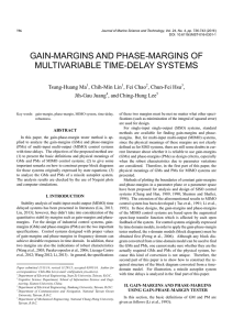 gain-margins and phase-margins of multivariable time