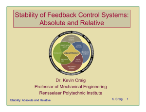 Stability of Feedback Control Systems: Absolute