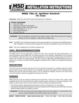 msd 5520 ignition control module installation instructions tach adapter installation instructions msd 7al 3 ignition control