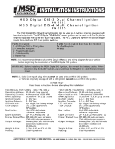 MSD Digital DIS-2 Dual Channel Ignition