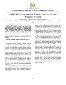 A High Frequency Modular Resonant Converter For The